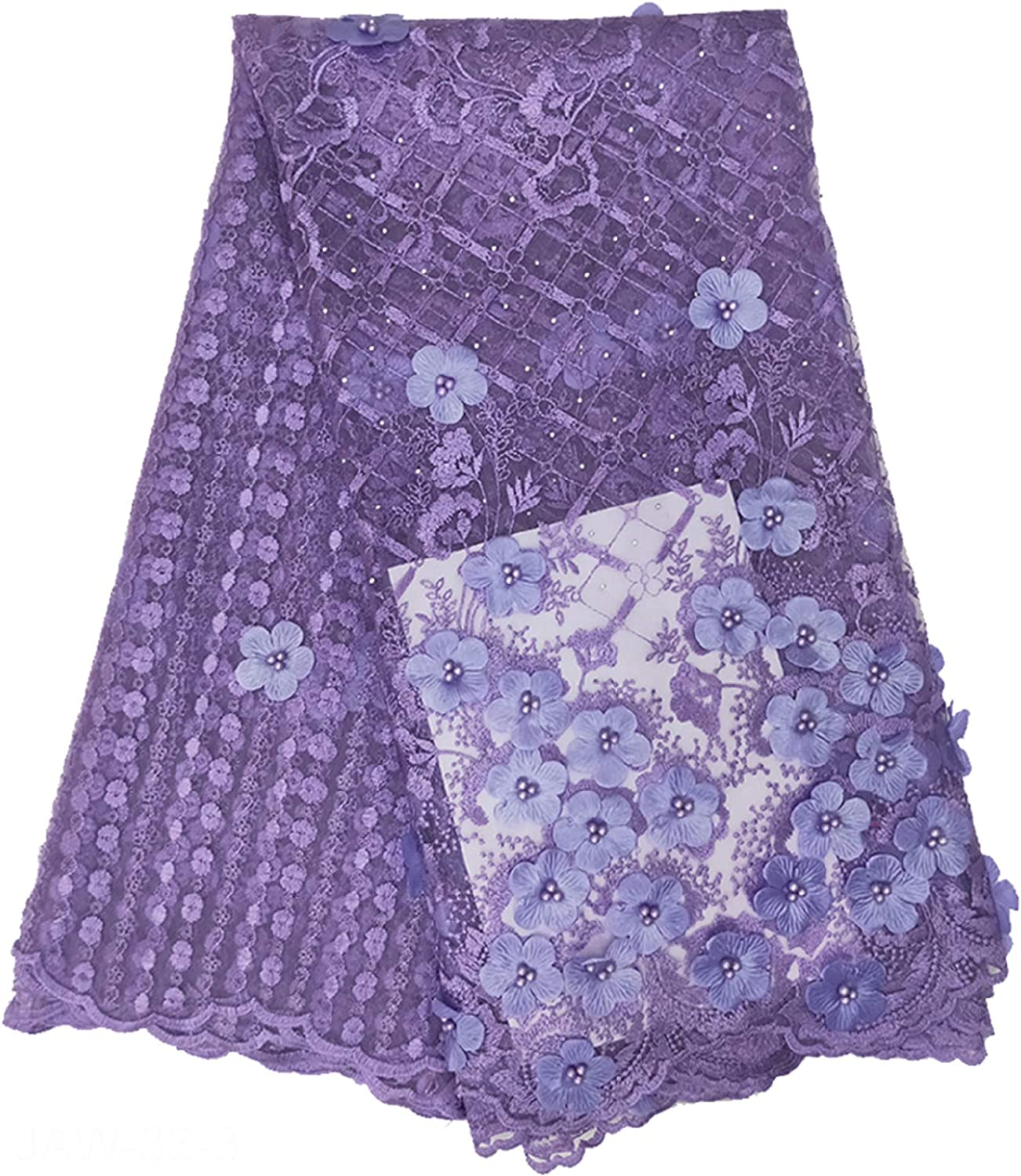 New Design Tulle Lace Fabric With Sequins Net Embroided Lace Applique For Wedding Dress 5 Yards