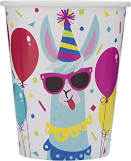 Llama Birthday Party Paper Cups, 8 Ct.
