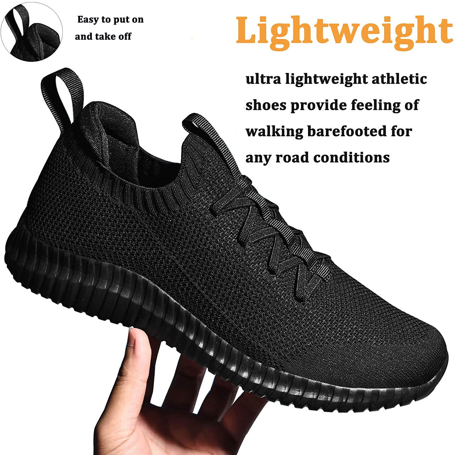 ziitop Mens Slip On Running Shoes Womens Walking Tennis Gym Athletic Shoes Breathable Lightweight Comfortable Fashion Non Slip Sneakers for Men Women