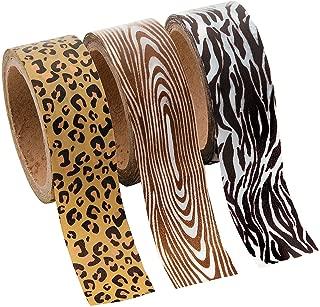 Fun Express Animal Print Washi Tape (3 Pack) Craft Supplies and Scrapbooking