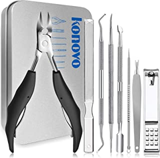 Nail Clippers Pedicure Tools 8pcs, Manicure Set Professional,Toenail Clippers Adult,Nail Grooming Kit,Heavy Duty Nail Clip...