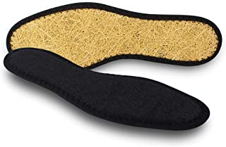 Pedag 2806 Washable Deo-Fresh Insoles with Natural Cotton Terry and Sisal Fibers, Black, Men's 11