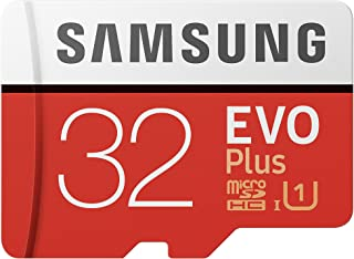 Samsung EVO Plus - Tarjeta de memoria microSD de 32 GB con adaptador SD 95 MB/s UHS1 color rojo y blanco