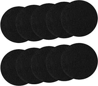 Resinta 10 Pack Kitchen Compost Bin Pail Filters Activated Carbon Filter Refill Replacement Filters, Round (6.75 Inch)