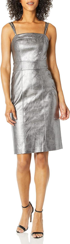 BCBGMAXAZRIA Women's Strappy Pleather Bodycon Dress