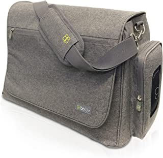 bblüv - Ültra - Large Capacity Diaper Bag, Multi-Function, Changing Pad included (Heather Grey)