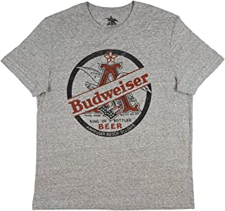 King Of Beers Heather Grey Tee Shirt Anheuser Busch Logo