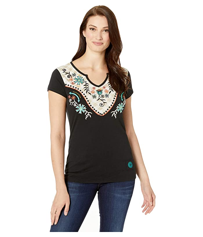 Double D Ranchwear Defying Gravity Embroidered Tee Shirt