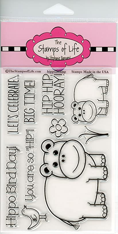 Super Cute Hippo Clear Stamps for Scrapbooking and Card-Making by The Stamps of Life - Hippo2Stamp dnyz643892887300