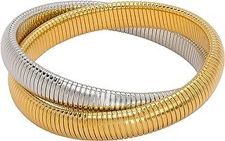 JANIS BY JANIS SAVITT High Polished Double Cobra Bracelet
