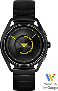 Emporio Armani Men's Smartwatch Powered with Wear OS by Google with Heart Rate, GPS, NFC, and Smartphone Notifications