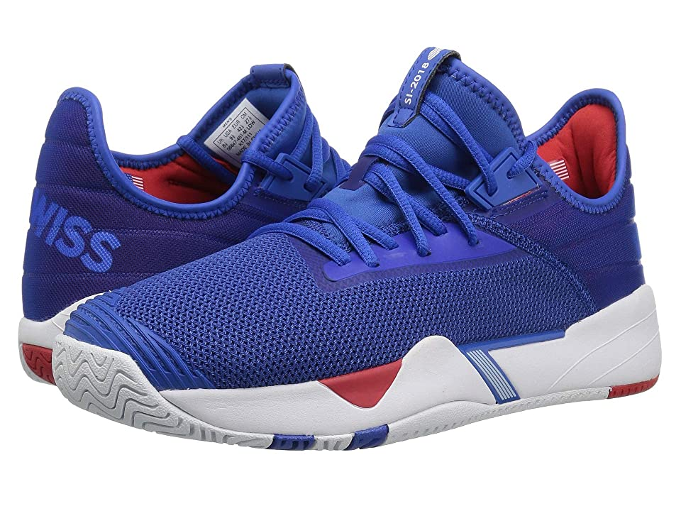 K-Swiss SI-2018 (Strong Blue/White/High-Risk Red) Athletic Shoes