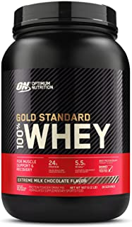 Optimum Nutrition Gold Standard 100% Whey Protein Powder, Exreme Milk Chocolate - 907 Grams