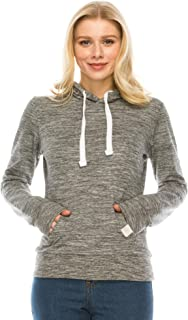 Camellia Women's Hoodie Sweatshirt Pullover - Casual Long Sleeve Hooded Top French Terry Front Pocket Active Workout Yoga