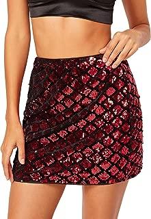 Verdusa - Falda de Lentejuelas para Mujer