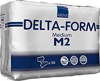 Abena Delta Form Brief, Medium, M2, 20Count
