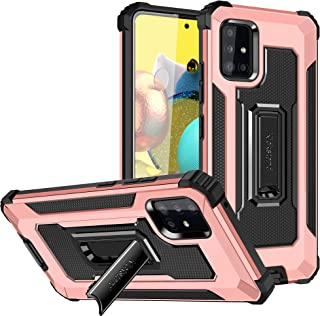 Samsung Galaxy A72 Case, Rosebono Hybrid Slim Colorful Armor Shockproof Impact Resistant Protective Cover Case with Kickst...