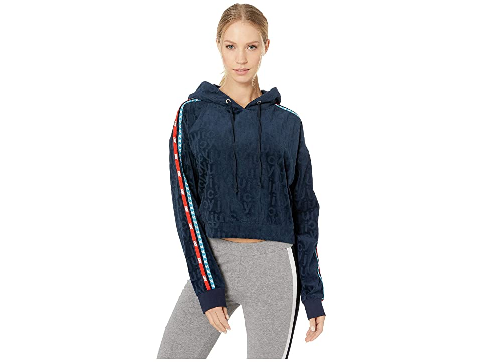 Juicy Couture Juicy Jacquard Velour Hooded Pullover (Regal) Women