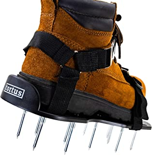 Tortus Lawn Aerator Shoes With 2.5 Inch Spikes - Aerating Spike Shoes For Lawns - Smart Strapping System - Longer Nails - Replacement Parts - Aerate Lawn, Soil & Grass - Secure Unisex Aeration Tools