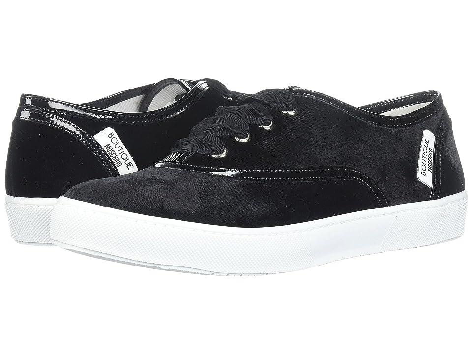 Boutique Moschino Velvet Sneaker (Black) Women