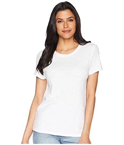 Lilla P Short Sleeve Back Seam Tee (White) Women