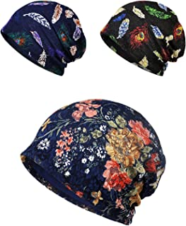 Chemo Cap, Turban Headwear, Womens Soft Beanie Sleep Turban Hat Headwear for Cancer Patients, Lace Headwrap and Chemo Hats for Hairloss