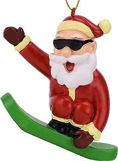 Tree Buddees Snowboarding Santa Claus Christmas Ornament