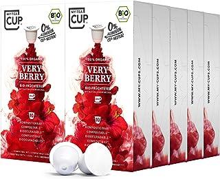 My Tea Cup - TEEKAPSELN VERY BERRY 10 x 10 KAPSELN I BIO-FRÜCHTETEE I 100 Kapseln für Nespresso³-Kapselmaschinen I 100% industriell kompostierbare & nachhaltige Teekapseln – 0% Aluminium