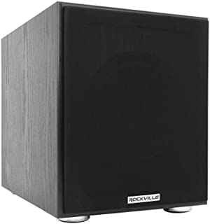 """Rockville Rock Shaker 8"""" Inch Black 400w Powered Home Theater Subwoofer Sub"""