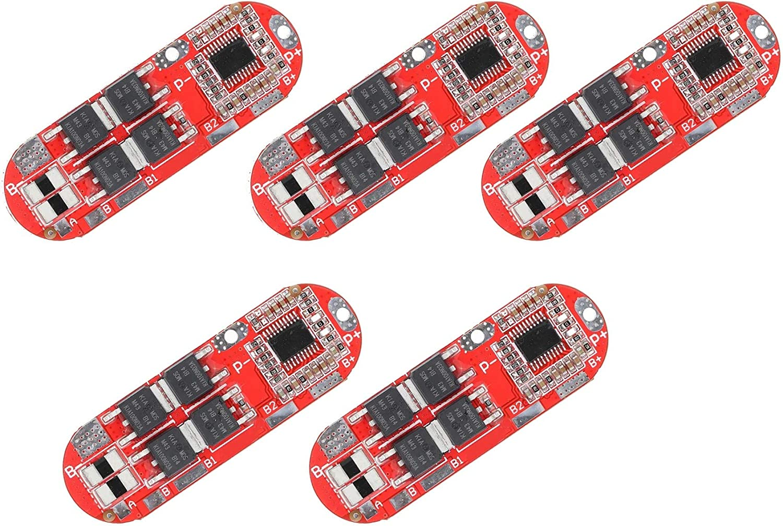 TECNOIOT 5pcs 4S 25A 16.8V Li-Ion Litio 18650 Carga BMS PCM Placa de protección de batería