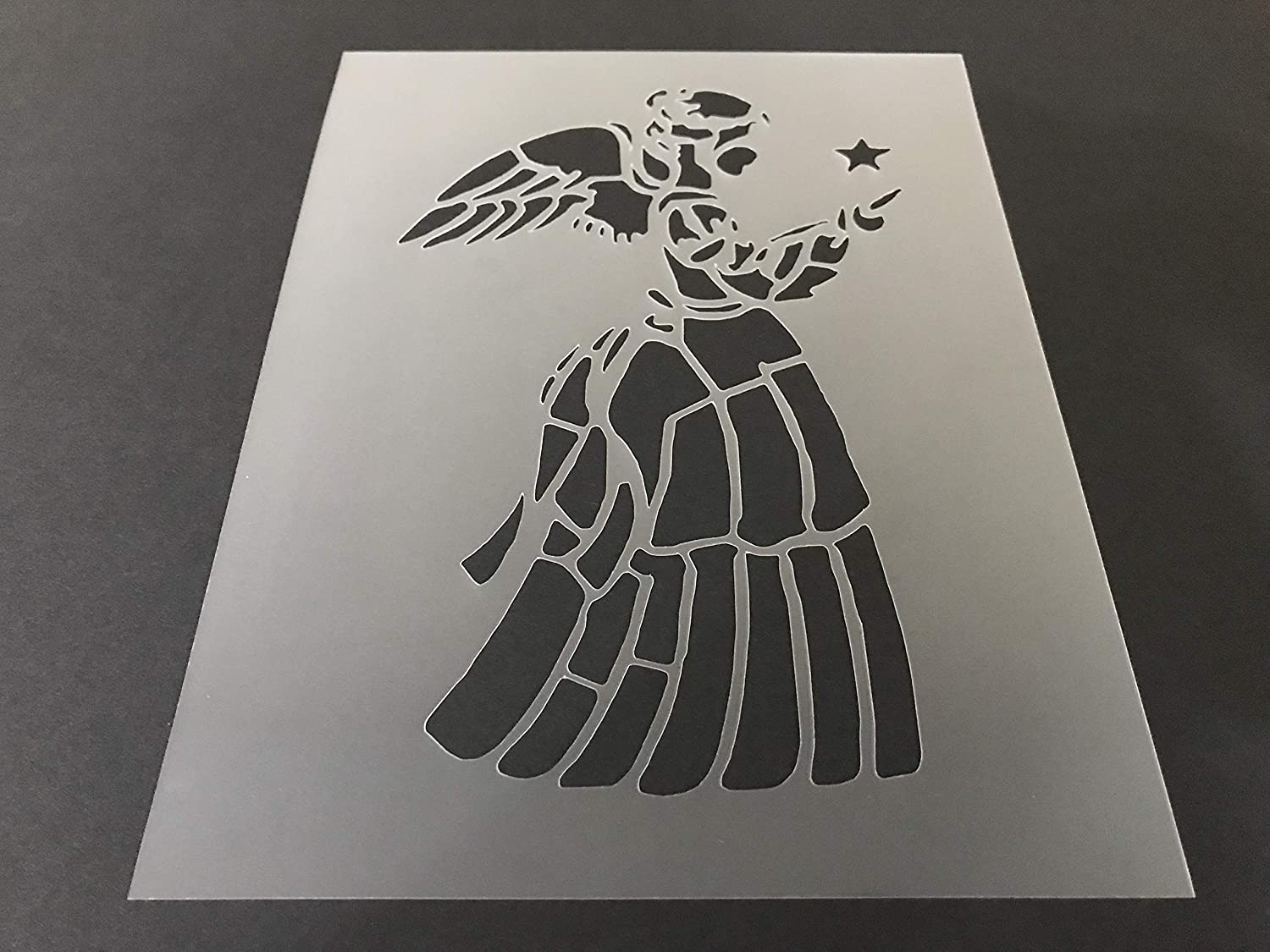 Angel Stencil Direct stock discount #4 Reusable 10 Many popular brands mil 10.5in x 8in sheet Thick
