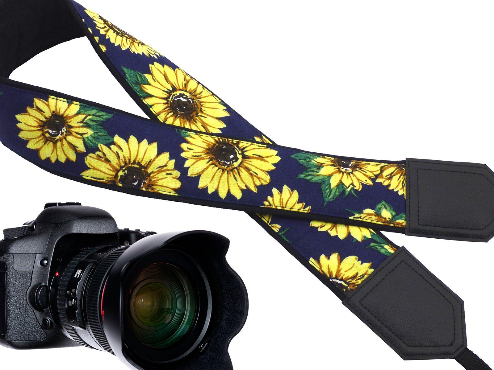 Diseño de girasoles, intepro Correa de cámara. Yellow Blossoms ...