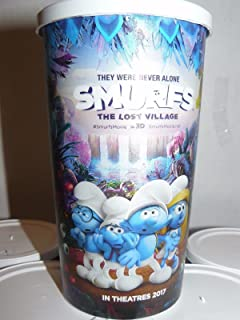 6 NEW Smurfs The Lost Village 16 oz Plastic Theatre Cups With Lids