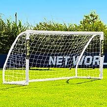 FORZA Match Soccer Goals   Premium Backyard All Weather Goals – 5ft x 4ft to 12ft x 6ft   uPVC Goal Frame – Quick Assembly...