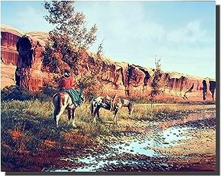 Western Cowboy Horses Wall Decor Art Print Poster (16x20)