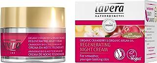 Lavera La Crema de Noche Regeneradora - Con Fito-Colágeno - Arándano bio & Aceite de argán bio - vegano - cuidado facial biológico - cosméticos naturales 100% certificados - 50 ml