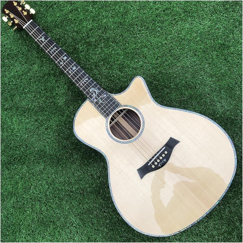 Guitarra 916 Guitarra Acústica Spreson Spruce Top 916 CE Acoustic Guitarra Eléctrica Real 916C Folk Acoustic Guitarra de Madera AMINÍ (Color : Guitar, Size : 41 Inches)