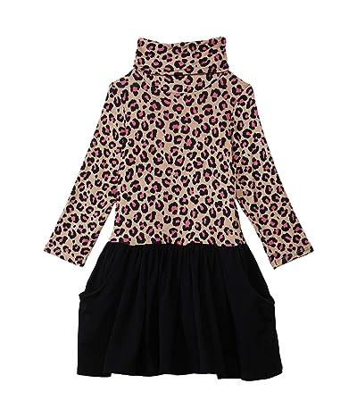 fiveloaves twofish Maisie Dress (Little Kids/Big Kids) (Pink Leopard) Girl