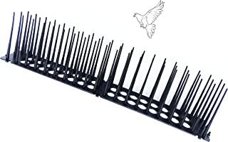 "Yostopper High Bird Spikes Cat Repellent Fence for Anti-Climbing Security on Wall Window Railing Length 17.3"", Spike Height 3.93"", Set of 2, Black"
