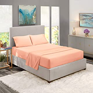 King Sheets - Bed Sheets King Size – Deep Pocket Hotel Sheets – Cool Sheets - Luxury 1800 Sheets Hotel Bedding Microfiber Sheets - Soft Sheets – King - Peach
