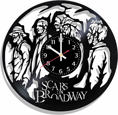 Scars on Broadway Vinyl Wall Clock Art Gift Room Modern Home Record Vintage Decoration Gift for