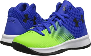 (アンダーアーマー) UNDER ARMOUR キッズバスケットボールシューズ?靴 UA BPS Surge Basketball (Little Kid) Team Royal/Arena Green/Black 2 Little Kid (21cm) M