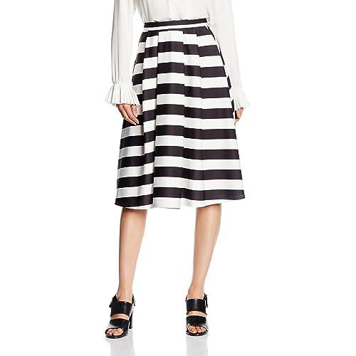 846070e055 New Look Women's Bold Stripe Skirt