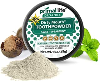 Sponsored Ad - Dirty Mouth Tooth Powder for Teeth Whitening, Toothpaste Powder Teeth Whitener with Essential Oils and Bent...