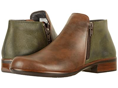 Naot Helm (Pecan Brown Leather/Oily Olive Suede) Women