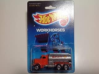 Hot Wheels 1989 Workhorses Peterbilt Tank Truck Orange/Silver