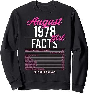 1978 August Facts Girl Birthday Sweatshirt