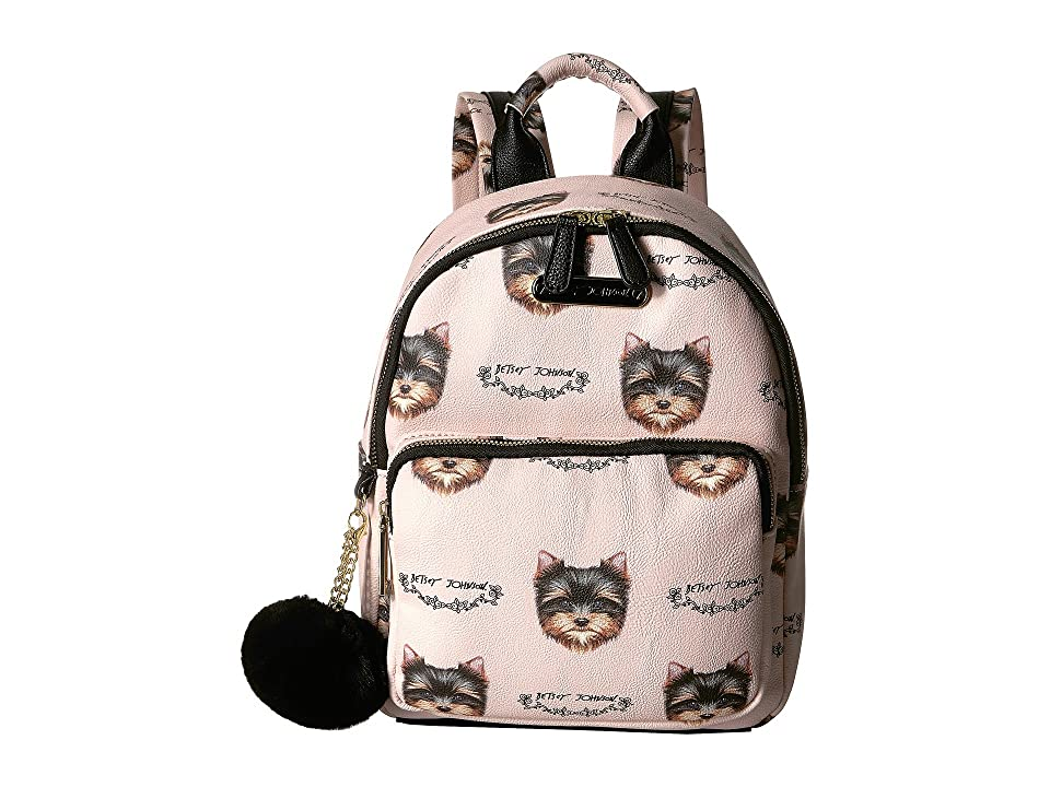 Betsey Johnson Medium Backpack (Blush Multi) Backpack Bags
