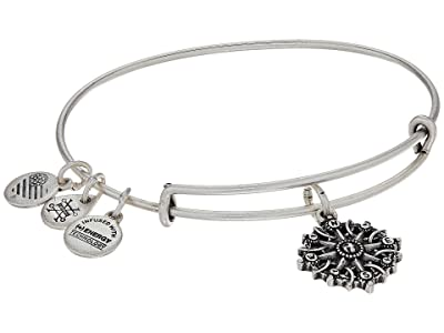 Alex and Ani Path of Symbols-Compass III Bangle (Rafaelian Silver) Bracelet