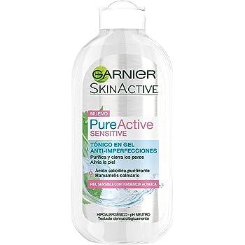 Garnier Skin Active - Pure Sensitive Tónico en Gel Anti Imperfecciones, para Piel Sensible con Tendencia Acnéica, 200 ml: Amazon.es: Belleza